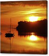Sunrise On The Cove Canvas Print