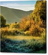 Sunrise On The Duck Marsh Canvas Print