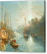 Sunrise On The Grand Canal Canvas Print