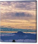 Sunrise On The Highway Canvas Print