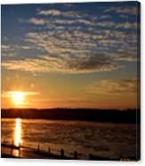 Sunrise On The Mississippi Canvas Print