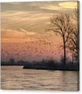 Sunrise On The Platte Canvas Print