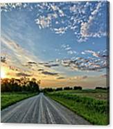 Sunrise On The Road Canvas Print