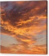 Sunrise Orange Sky, Willamette National Forest, Oregon Canvas Print