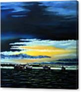Sunrise Over Boulmer Beach Canvas Print