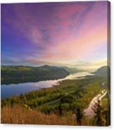 Sunrise Over Columbia River Gorge Canvas Print