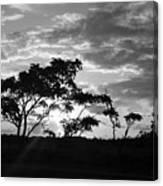 Sunrise Over Fort Salonga B W Canvas Print