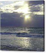 Sunrise Over Gulf Of Mexico Canvas Print