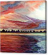 Sunrise Over Indian Lake Canvas Print