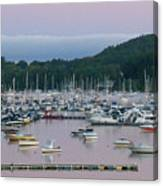 Sunrise Over Mallets Bay Panorama - Two Canvas Print