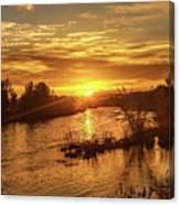 Sunrise Over  Payette River Canvas Print