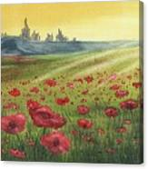 Sunrise Over Poppies Canvas Print
