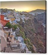 Sunrise Over Santorini, Greece 1 Canvas Print