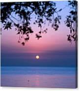Sunrise Over Sea Canvas Print