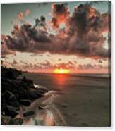 Sunrise Over The Beach Canvas Print
