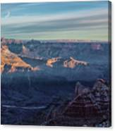 Sunrise Over The Grand Canyon Canvas Print