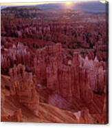 Sunrise Over The Hoodoos Bryce Canyon National Park Canvas Print