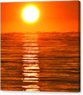 Sunrise Over The Lake 2 Canvas Print