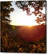 Sunrise Over The Mountain  Canvas Print