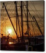 Sunrise Over The New Bedford Harbor Canvas Print
