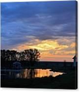 Sunrise Over The Pond Canvas Print