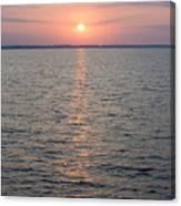 Sunrise Over The Sea Horizon Canvas Print
