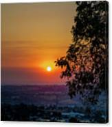 Sunrise Over The Valley Canvas Print