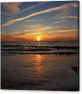 Sunrise Over The Waves Canvas Print