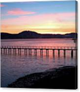 Sunrise Over Tomales Bay Canvas Print