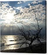 Sunrise Prayer On The Beach Canvas Print