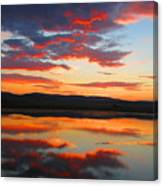 Sunrise Refection Canvas Print