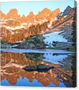 Sunrise Reflection At Willow Lakes Canvas Print
