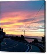 Sunrise Road Canvas Print
