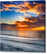 Sunrise Serenades The Beach Canvas Print
