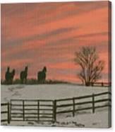 Sunrise Silhouettes Canvas Print