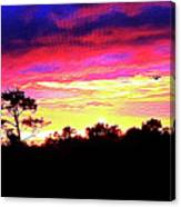 Sunrise Sunset Delight Or Warning Canvas Print