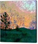 Sunrise-sunset Canvas Print