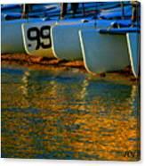 Sunrise / Sunset / Sailboats Canvas Print