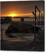 Sunrise Tramore Canvas Print