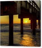 Sunrise Under The Pier  Canvas Print