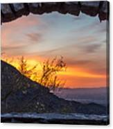 Sunrise Window - Phoenix Arizona Canvas Print