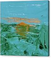 Sunrise With Gulls Canvas Print