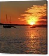 Sun's Up Provincetown Pier 3 Canvas Print