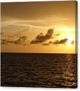 Sunset - Gulf Of Mexico Canvas Print