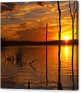 sunset @ Reservoir Canvas Print