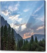 Sunset 1 Yosemite  Canvas Print