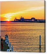 Sunset Across The Chesapeake Canvas Print
