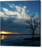 Sunset Along The Mississippi River Canvas Print