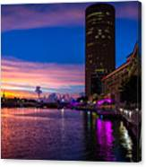 Sunset Along The Riverwalk Canvas Print