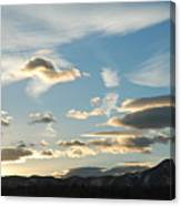 Sunset And Iridescent Cloud Canvas Print